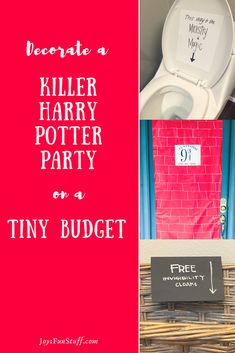 Decorate a Killer Harry Potter Party on a Tiny Budget Surprise Boyfriend Gifts, Birthday Surprise Boyfriend, Birthday Party Tables, Birthday Games, Funny Birthday, 8th Birthday, Birthday Ideas, Harry Potter Themed Gifts, Harry Potter Birthday