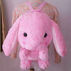 Lop rabbit cute plush doll backpack messenger bag - Thumbnail 1