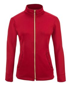 Another great find on #zulily! Cranberry Ruffle Track Jacket - Women by Sport Haley #zulilyfinds... $29.99... S/XS