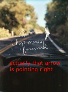 Actually, that arrow is pointing to the right...