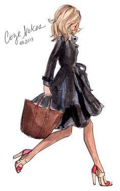Start living as your Best Self now. - Levnow Art by Inslee Haynes Foto Fashion, Fashion Art, Girl Fashion, Fashion Quotes, New Outfits, Trendy Outfits, Illustration Mode, Fashion Design Sketches, Girly