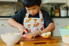 Kids apron for food prep. Foxy!