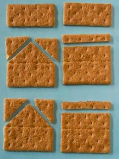 A terrific tutorial on how to make a graham cracker gingerbread house with your kids. Uses melted white chocolate instead of icing by KathleenTo
