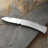Stainless Steel Personalized Lockback Knife - 2369 $20 - groomsmen gift idea
