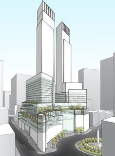 Architecture Drawing Discover Circle Section . Architecture Drawings, Futuristic Architecture, Facade Architecture, Concept Architecture, Contemporary Architecture, Mix Use Building, Building Concept, High Rise Building, Facade Design