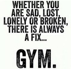 Fix it in the gym ...