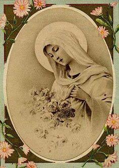 Blessed Virgin Mary, Italian fresco mural.