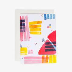 Color Block Blank Card