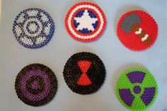 Avengers Coasters by DimplesMakesDots on Etsy
