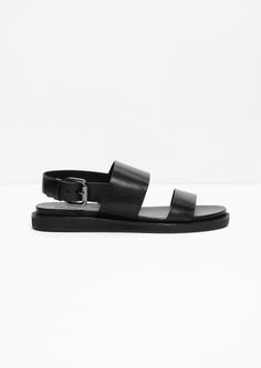 & Other Stories | Raw Edge Leather Sandals