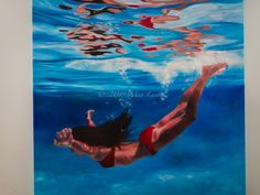 'Gravity' Oil on canvas - 2015 - art - painting  copyright Mia Laing 2015