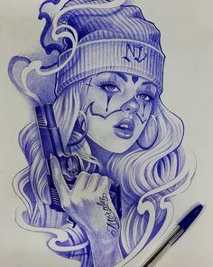 Cholo Tattoo, Chicano Tattoos Sleeve, Chicano Style Tattoo, Chicano Love, Chicano Drawings, Badass Drawings, Tattoo Drawings, Art Drawings, Arte Cholo
