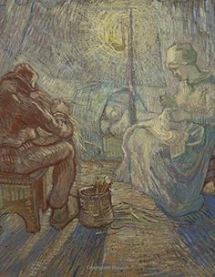 Night - after Millet, Vincent van Gogh. Ruled journal: 150 lined / ruled pages, 8,5x11 inch (21.59 x 27.94 cm) Laminated by Studio Beeker http://www.amazon.com/dp/1519727968/ref=cm_sw_r_pi_dp_HoAFwb12GQY84