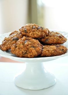 Applesauce oatmeal raisin cookies! The applesauce makes the texture like soft-baked cookies.