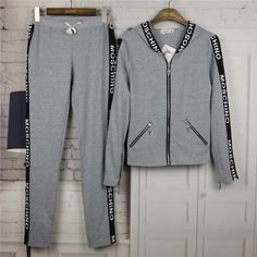 Moschino womens two piece sports tracksuit aliexpress