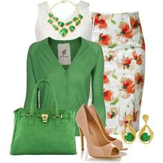 Flowery classy outfit