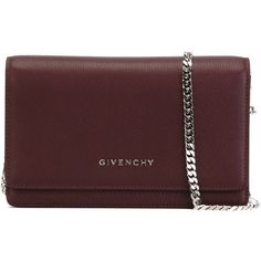 Givenchy 'Pandora' crossbody bag (1,279 CAD) ❤ liked on Polyvore featuring bags, handbags, shoulder bags, red, crossbody purse, red crossbody, chain strap purse, chain shoulder bag and chain handle handbags