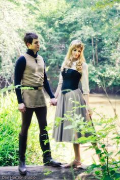 Briar Rose and Prince Phillip cosplay;   normally don't pin cosplay but this is AMAZING! I've always wanted this   dress!