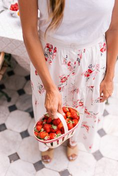 Gal Meets Glam Contributor Series: Market Breakfast Table In France - Fresh strawberries