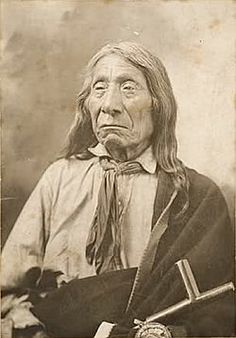 Chief Blue Horse and Chief Red Cloud were brothers and sons of Old Chief Smoke. Born the same day, both died at the age of 87 at Pine Ridge, S.D. Chief Red Cloud, Felix Flying Hawk, 1905.