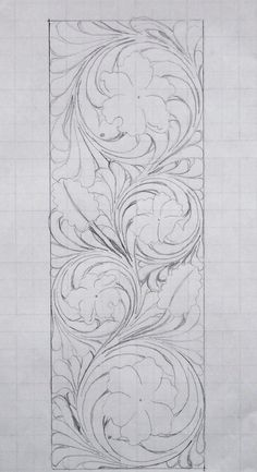 Scrollwork – Deanna M. Longarm Quilting, Free Motion Quilting, Machine Quilting, Leather Tooling Patterns, Leather Pattern, Wood Carving Patterns, Carving Designs, Craft Patterns, Quilt Patterns