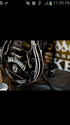 Jack Daniels guitar Guitar Photos, Cool Guitar, Jack Daniels, Grand Cru, Bass Guitars, Instrumental, Whisky, Roots, Champagne