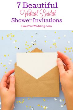Throwing your pre-wedding party completely online? Then you'll need one of these nifty virtual bridal shower invitations. Check them out! Bohemian Invitation, Nautical Invitations, Rustic Bridal Shower Invitations, Bridal Shower Rustic, Pre Wedding Party, Wedding Tips, Wedding Events, Wedding Planning, Dream Wedding