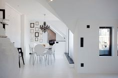 Contemporary White Penthouse in Stockholm