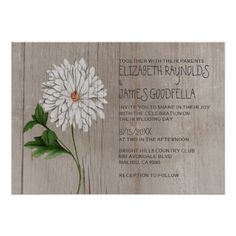 ShoppingRustic Chrysanthemum Wedding Invitations Invitesyou will get best price offer lowest prices or diccount coupone