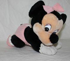 Disneyland Walt Disney World Baby Minnie Mouse Plush Toy Pink Pajamas VTG 1984