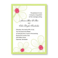 Stylish Blooms Wedding Invitations