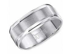 Wedding Band $1,140.00 STYLE: 001-405-00021 14K WG 7mm Brushed Cntr Soft Square Band 10K for $750, 18K for $1705, Palladium for $1485, Platinum $3380 http://www.theringbygoldgals.com/