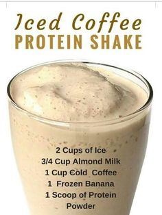 These recipe! It is super filling (holds over until lunch), low in calories, high in protein, and the perfect morning drink and weight loss! (about 115 calories ) healthy drinks Iced Coffee Protein Shake Recipe Smoothie Drinks, Healthy Smoothies, Healthy Drinks, Healthy Eating, Healthy Recipes, Clean Eating, Smoothie Diet, Breakfast Smoothies, Detox Drinks