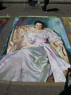 Lady Agnew of Lochnaw  Painted by Tracy Lee Stum for the San Luis Obispo I Madonnari Street Painting Festival 2008