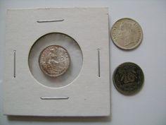 Three Silver Coin Collection including Peru 1916 Half Dinero, Venezuelan 25 Centimos