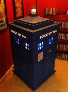 Dad, Doctor Who fan, and apparent cardboard whisperer David Prouty built this TARDIS Jukebox. He constructed it using recycled shipping and pizza boxes and installed a Bluetooth speaker, rotating disco balls, LEDs, and a fog machine. Well let's hope it's actually bigger on the inside!