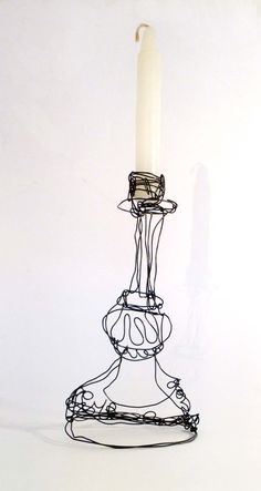 Wire Candlestick by agnesjones on Etsy