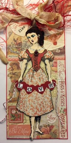 Character Constructions 2017 Valentine Tag Swap.  Made with stamps designed by Catherine Moore.