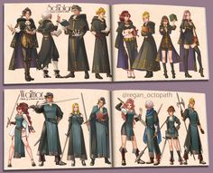 Bravely Default, Octopath Traveler, Character Art, Character Design, Casual Cosplay, Fantasy Inspiration, 2d Art, Traveling With Baby, Fire Emblem