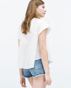 Image 5 of FLOUNCE SLEEVE TOP from Zara