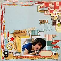 A boy page for my son! Fancy Pants Papers!