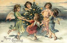Victorian Christmas Angels Singing Praises to their King Christmas Tree Art, Decoration Christmas, Christmas Angels, Christmas Projects, Vintage Christmas Images, Victorian Christmas, Christmas Postcards, Christmas Clipart, Retro Christmas