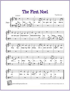 The First Noël | Free Sheet Music for Piano