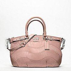 "Coach Madison gathered leather Sophia Satchel, aka ""Give me a promotion"" purse ($498)"