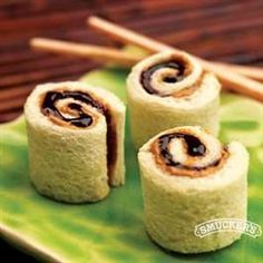 PB & J sushi bites - use almond or sunflower seed butter for peanut-free classrooms