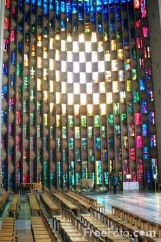 John Piper's breathtakingly beautiful Window at Coventry cathedral #StainedGlassCathedral