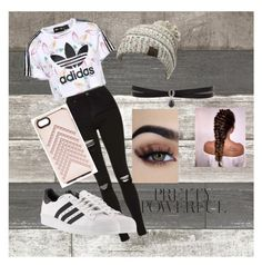 """Pretty Powerful"" by claudia1256 ❤ liked on Polyvore featuring adidas Originals, adidas, CC, Rebecca Minkoff and Fallon"