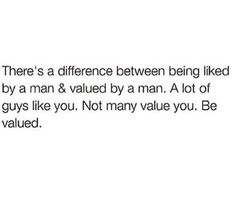 Difference between liked and valued.