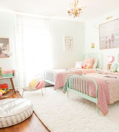 A stunning granddaughters' guest room for sleepovers at Nana's