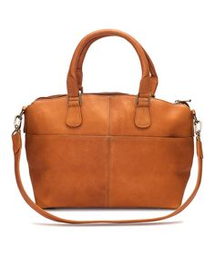 Look at this Le Donne Tan Esperanto Leather Satchel on #zulily today!